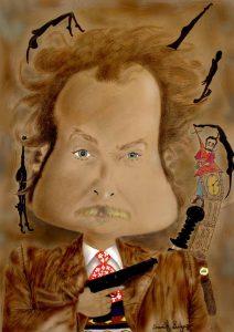 Serial killer Portrait Cartoon