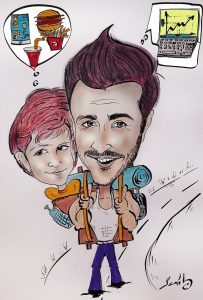dad and son cartoon