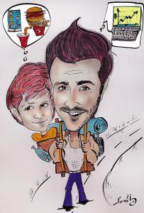 dad and son cartoon